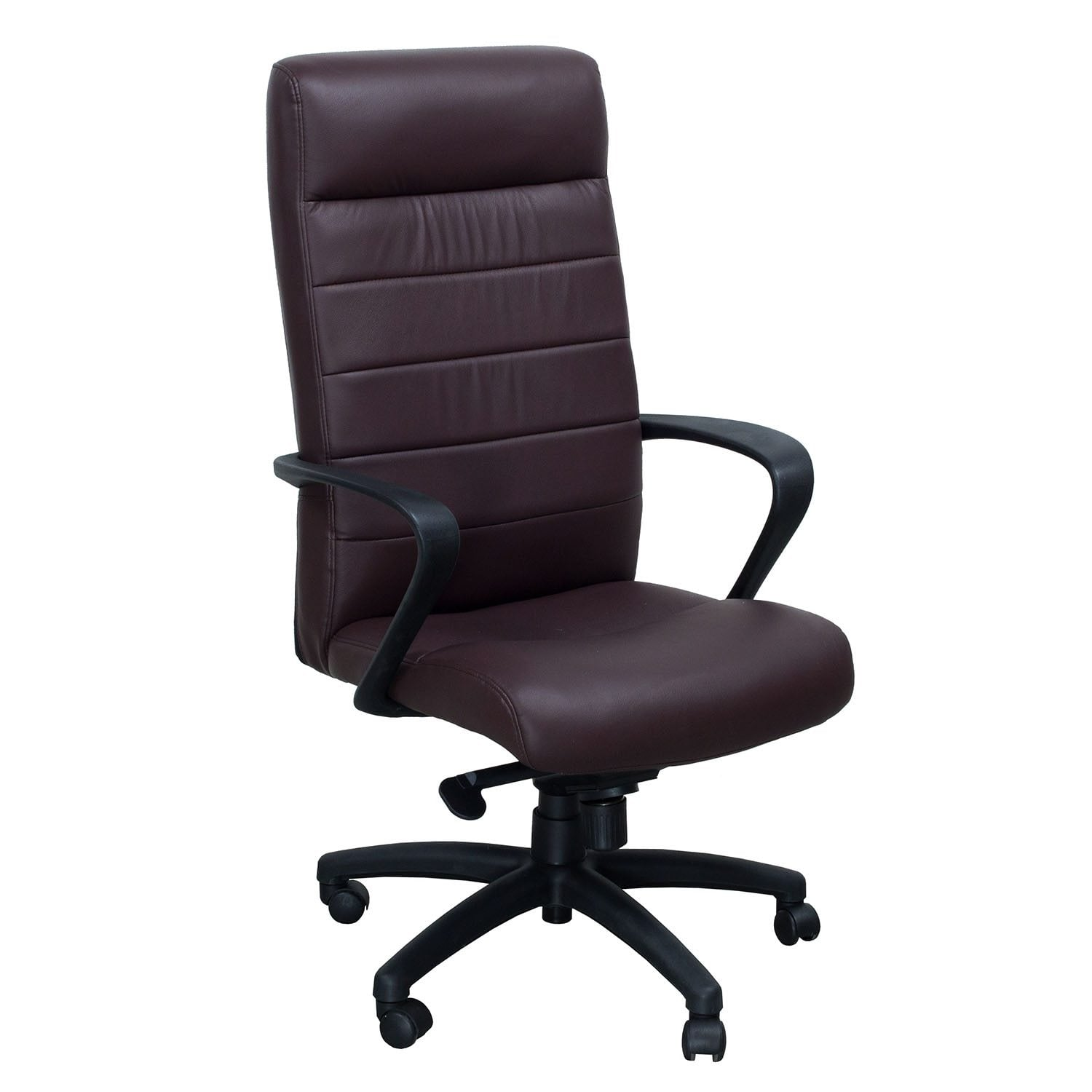 executive brown leather office chairs rent chair covers indianapolis derrick by gosit new task