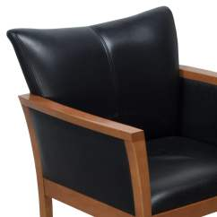 Black Side Chair Reupholster A With Non Removable Seat Arcadia Used Leather National Office