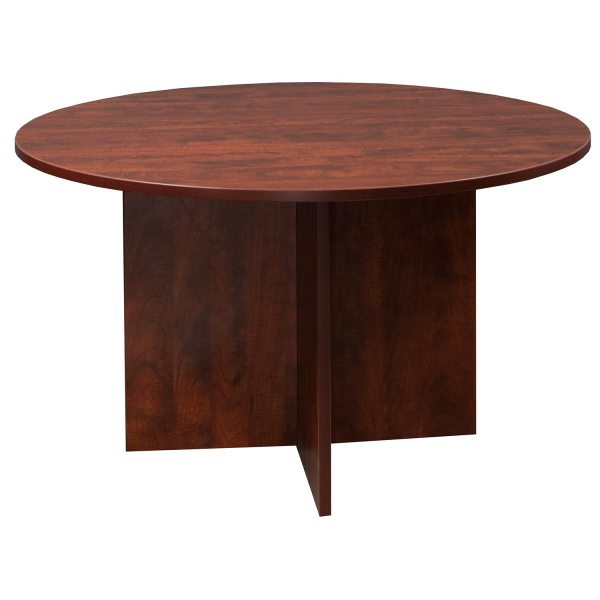 48 Inches Round Cherry Conference Table