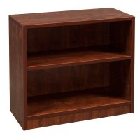 Everyday 30 in 2 Shelf Laminate Bookcase, Cherry ...