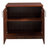 Everyday 36 in Laminate Storage Cabinet, Cherry | National ...