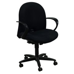 Desk Chair Youtube Rail Design Haworth Accolade Used Task Black National Office