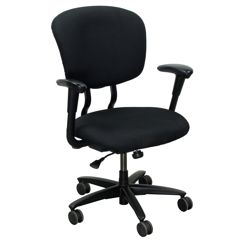 xl desk chair black skull haworth improv used task national office