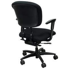 Xl Desk Chair Swivel Disassembly Haworth Improv Used Task Black National Office