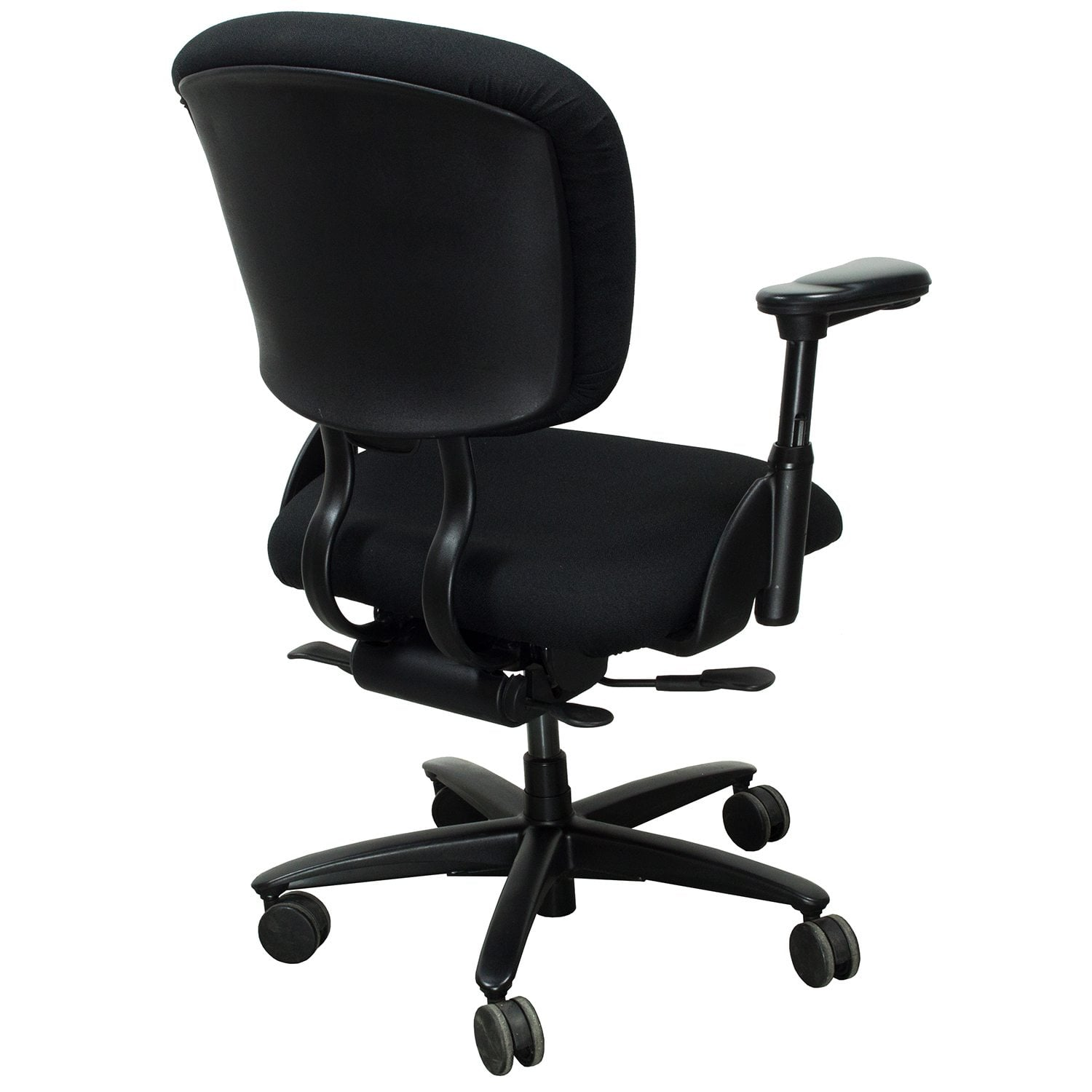 xl desk chair jazzy power chairs haworth improv used task black national office