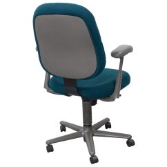 Teal Office Chair High With Wheels Herman Miller Ergon Used Back Task