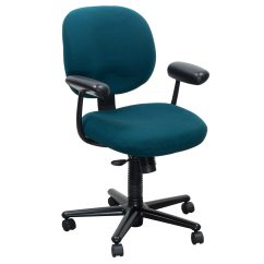 Teal Computer Chair Grey Linen Covers Herman Miller Ergon Used Task National