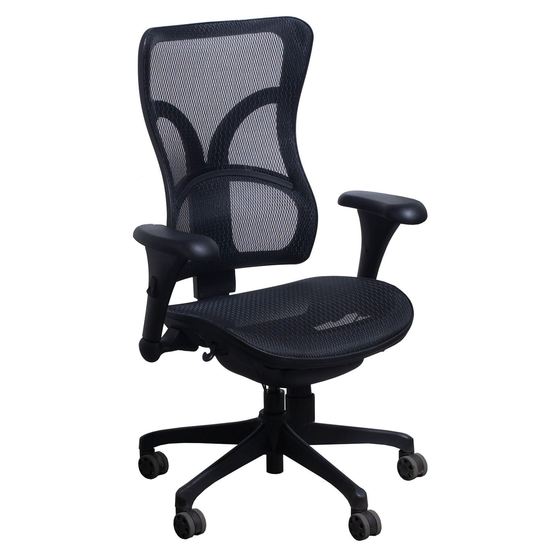 mesh task chair poang rocking review commander by gosit ergonomic black