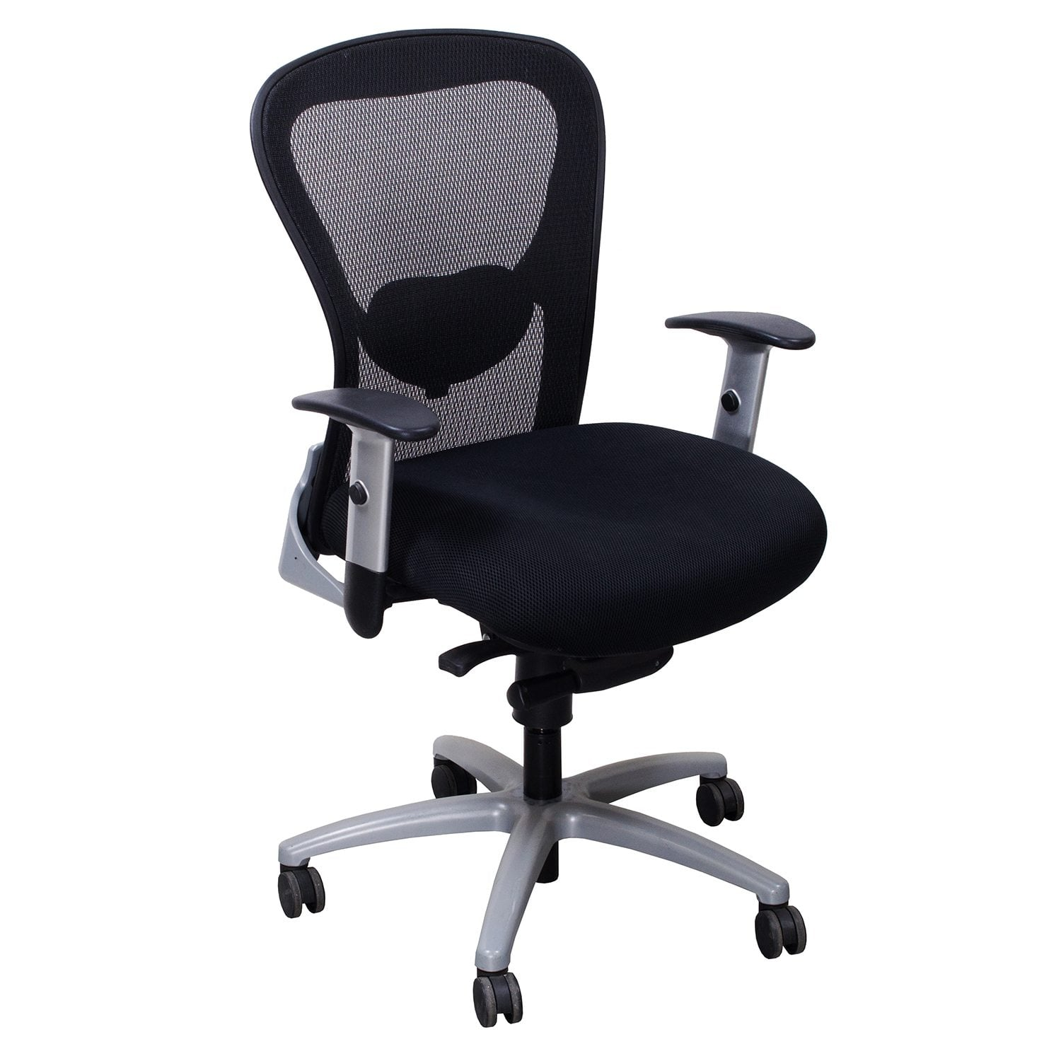 mesh task chair wood glider 9to5 1560 used black national office