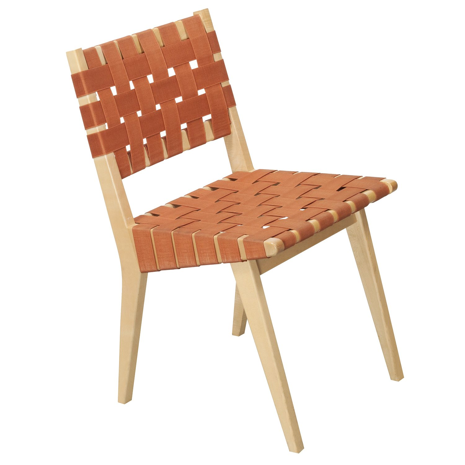 Knoll Risom Used Side Chair Orange  National Office