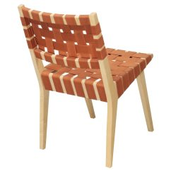Orange Side Chair Rattan Glass Table And Chairs Knoll Risom Used National Office