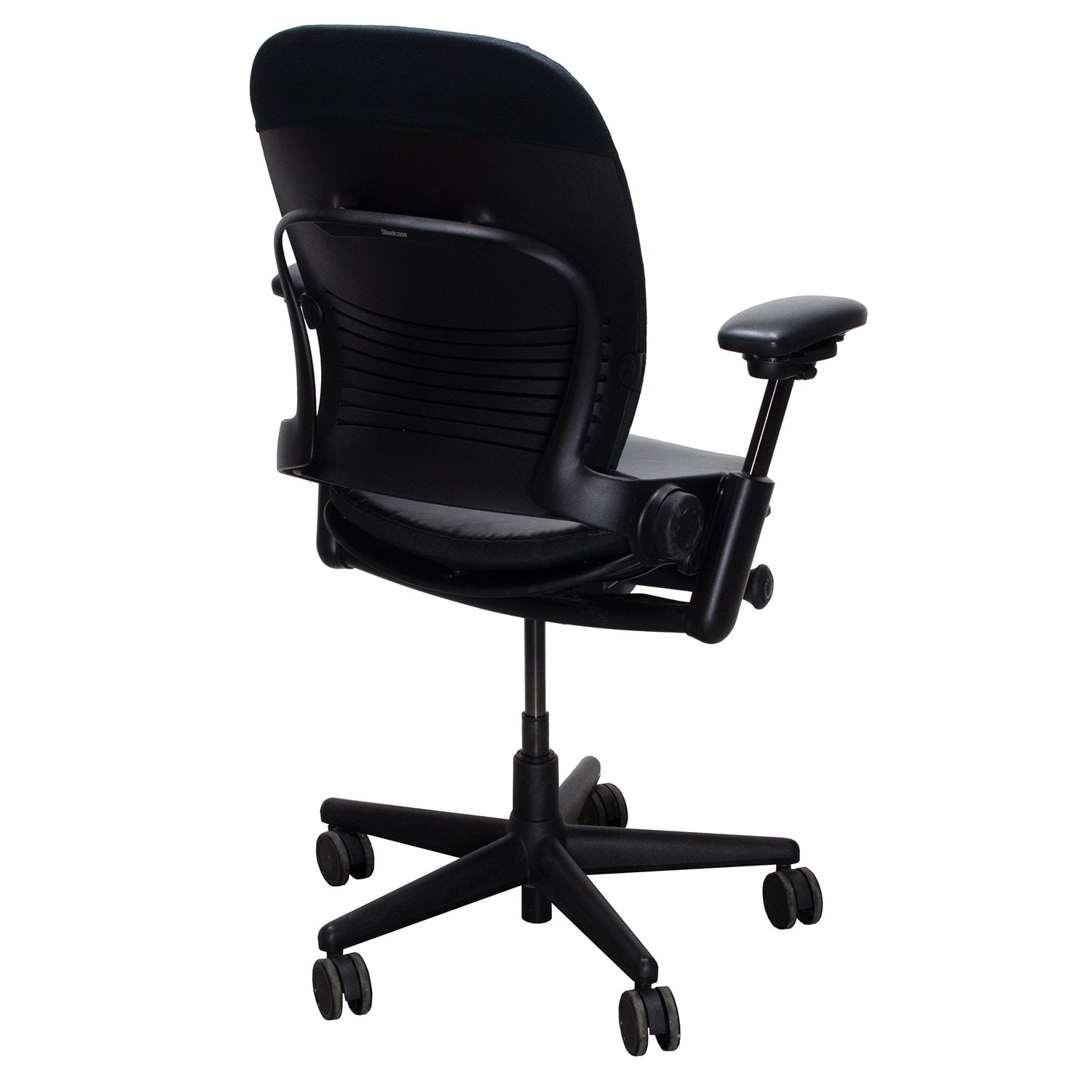 steelcase leap chair desk habitat v2 used leather seat task black