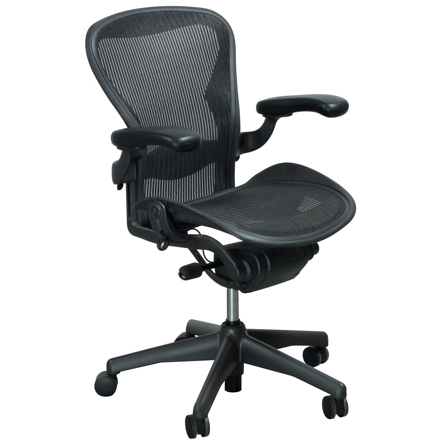 aeron office chairs distressed leather club chair herman miller used size a full function task