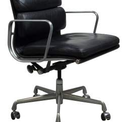 Herman Miller Leather Chair Diy Bows Eames Used Soft Pad Black