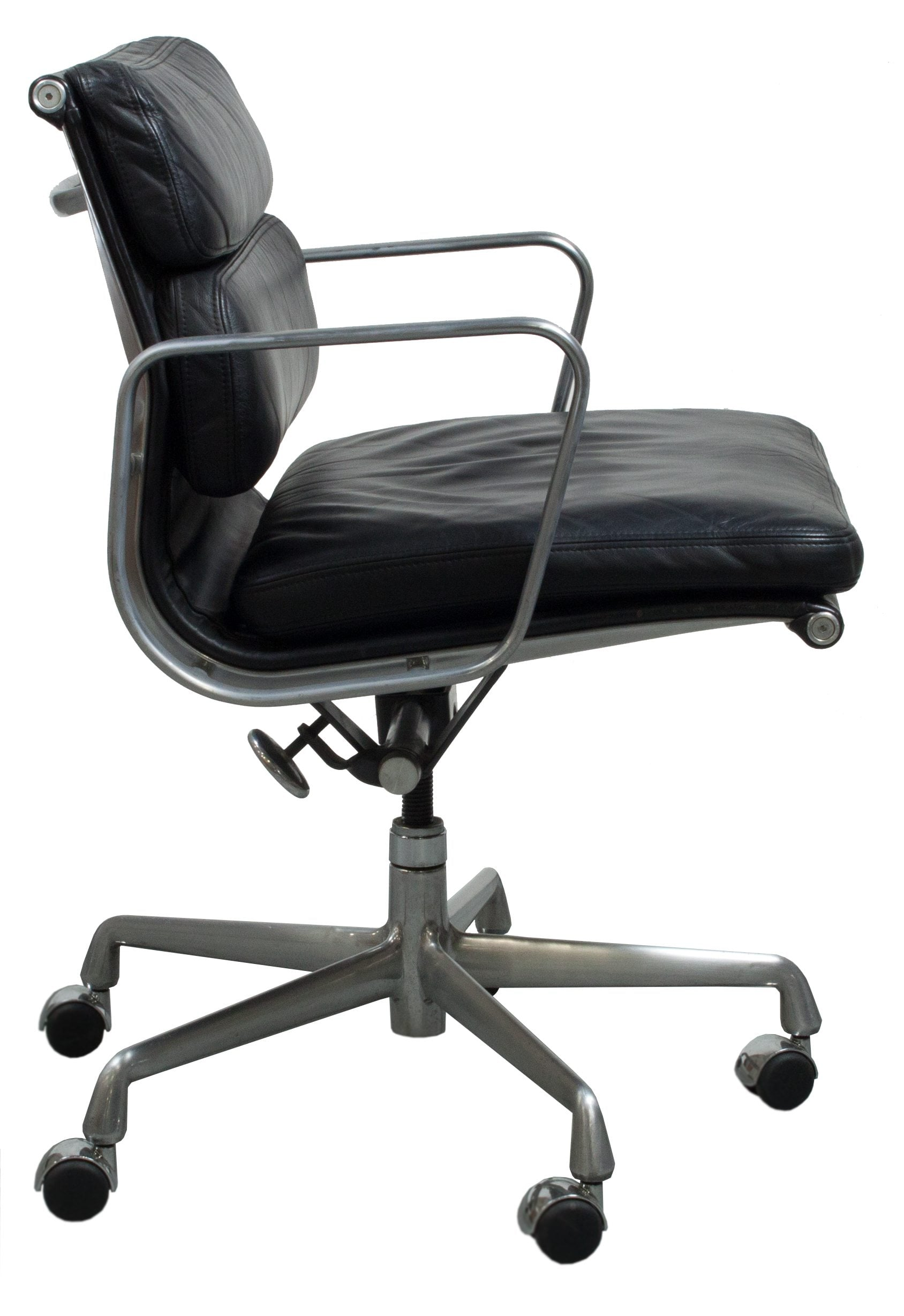 Herman Miller Eames Office Chair Herman Miller Eames Used Leather Soft Pad Chair Black