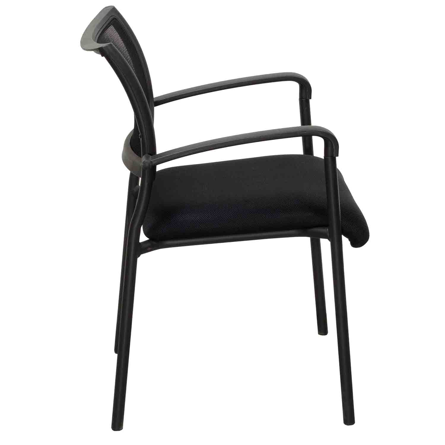Alera Chair Alera Eikon Used Stacking Mesh Guest Chair Black