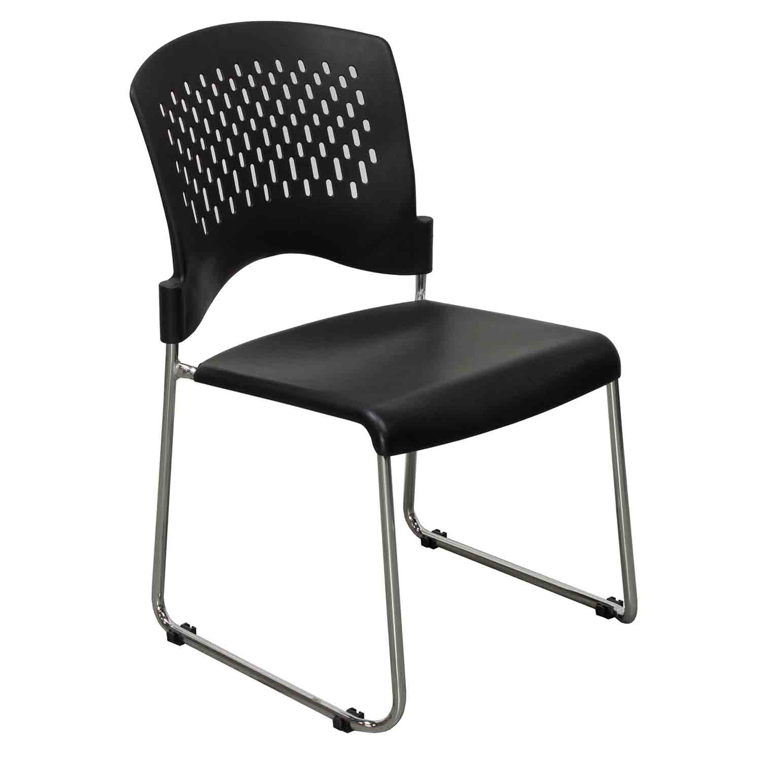 Plastic Used Back Stack Chair Black  National Office