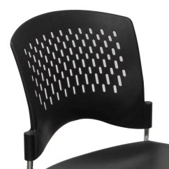 Black Plastic Chairs Overstuffed Office Chair Used Back Stack National