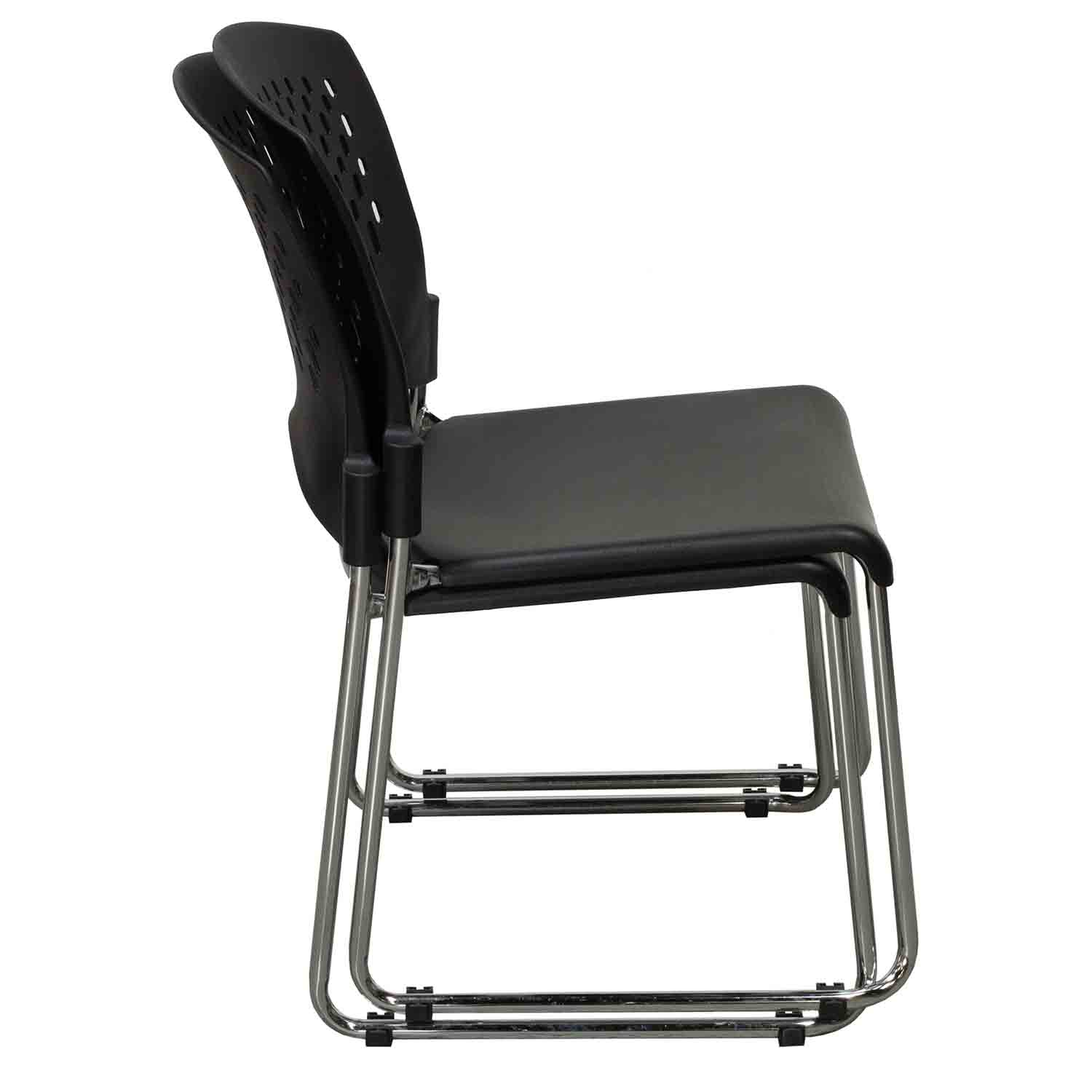 Plastic Stacking Chairs Plastic Used Back Stack Chair Black National Office