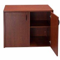 Laminate Used 2 Door Storage Cabinet, Cherry | National ...