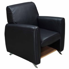 Black Leather Reception Chairs Hanging Chair Kijiji Gosit Single Seat Sofa National