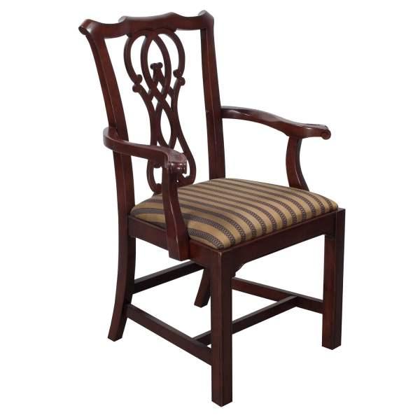 Bernhardt Used Wooden Side Chair Burnished Sage
