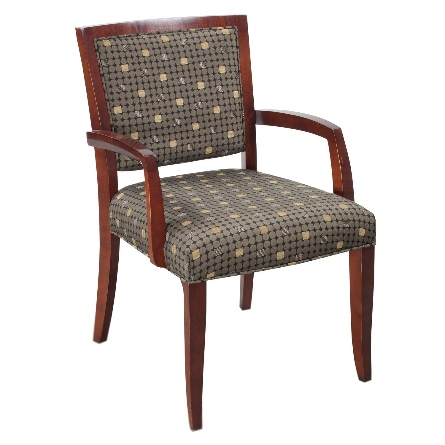 Pattern Chair Hbf Camden Used Wood Side Chair Earth Tone Pattern