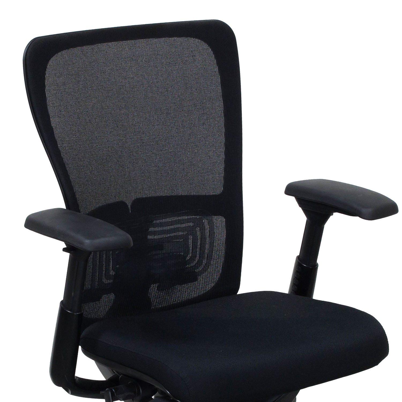 haworth zody chair gym qvc mesh back used task black national