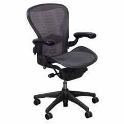 Aeron Chair Sizes Unusual Fabric Herman Miller Used Size B Task Grey Black