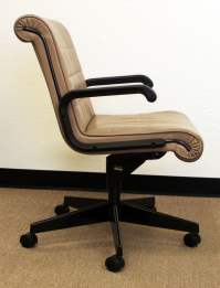 Knoll Sapper Used Leather Managerial Chair,Tan | National ...