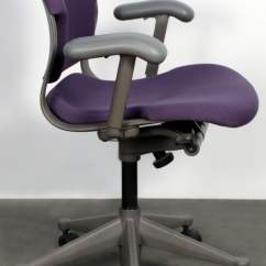 Purple Task Chair Plastic Bucket Chairs With Wooden Legs Herman Miller Equa 1 Used National
