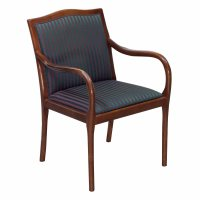 Bernhardt Used Wood Side Chair, Striped Pattern