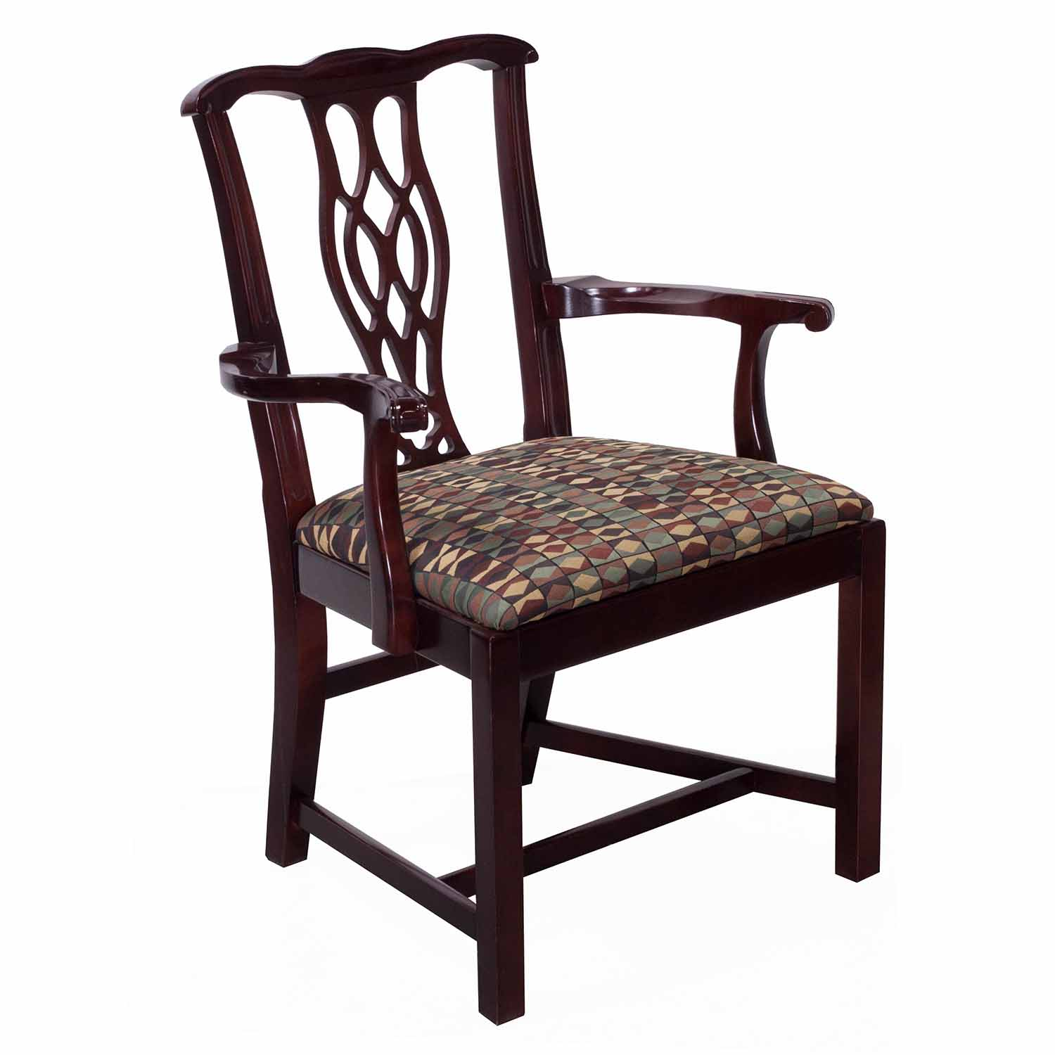 Wooden Chairs With Arms Bernhardt Eaton Square Used Wooden Arm Chair Mocha