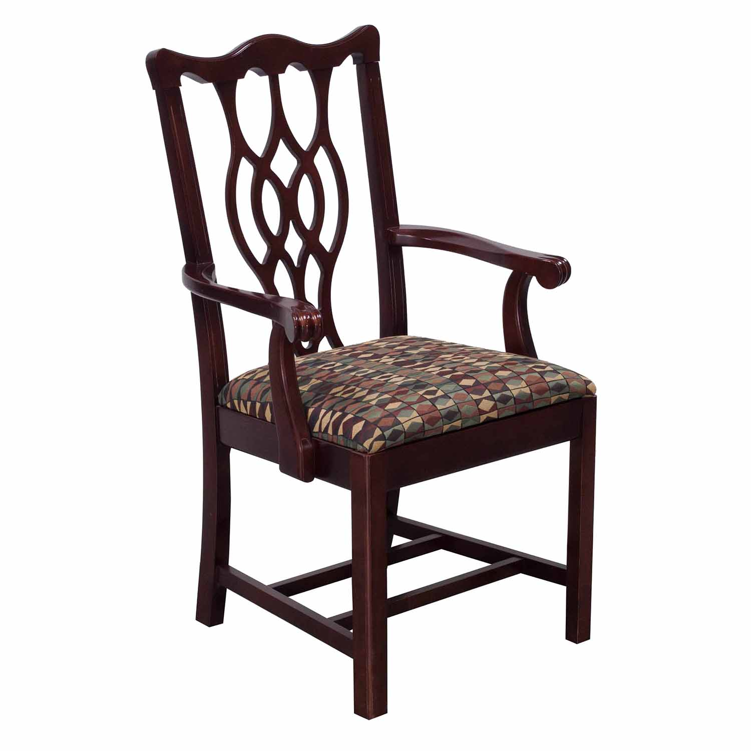 Bernhardt Chair Bernhardt Eaton Square Used Wooden Arm Chair Mahogany