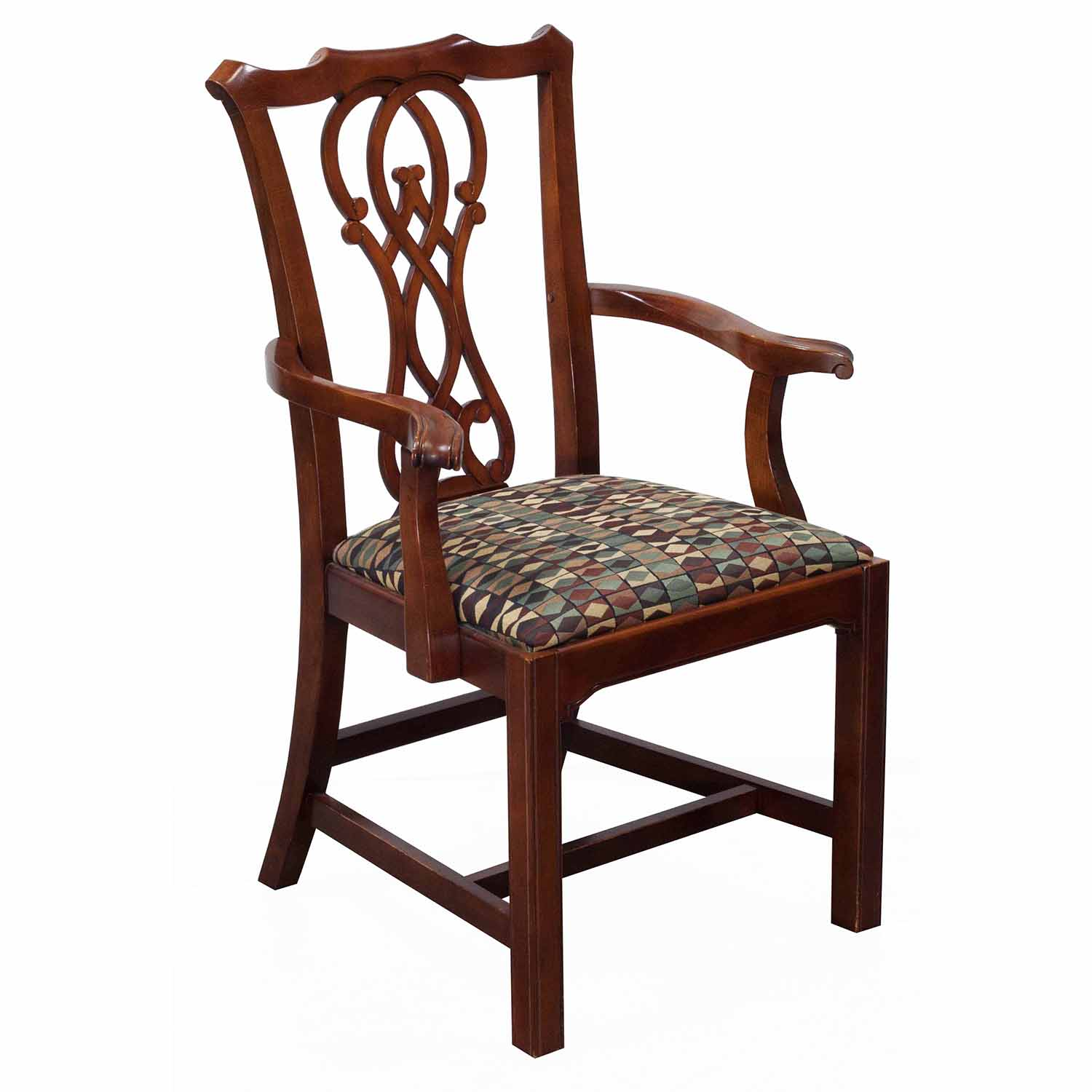 Cherry Chairs Bernhardt Eaton Square Used Wooden Arm Chair Cherry