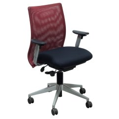 Red And Black Chair Porsche Office Steelcase Jersey Used Task National