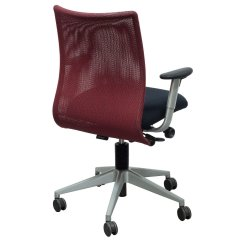 Red And Black Chair Patio Chaise Lounge Chairs Under 100 Steelcase Jersey Used Task National