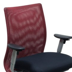 Red And Black Chair Reclining With Ottoman Leather Steelcase Jersey Used Task National