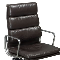 Herman Miller Leather Chair Boat Deck Chairs Eames Used High Back Dark
