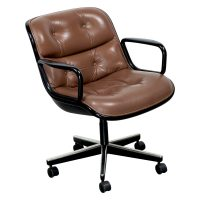Knoll Pollock Executive Leather Used Chair, Tan