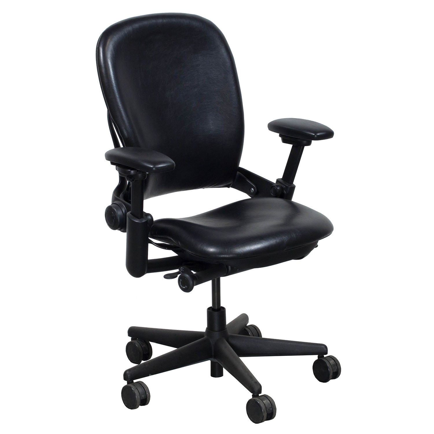steelcase leap chair peg perego tatamia high used leather v1 task black