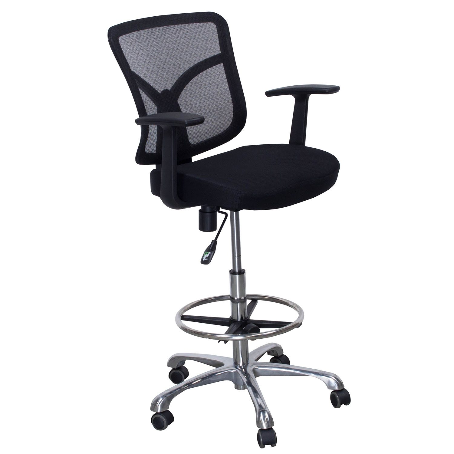 Stool Chair Gosit New Mesh Back Office Drafting Stool Black