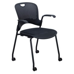Herman Miller Stacking Chairs Bed Bath And Beyond Club Chair Caper Used Mobile Stack Black