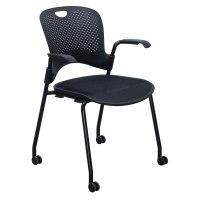 Herman Miller Caper Used Mobile Stack Chair, Black