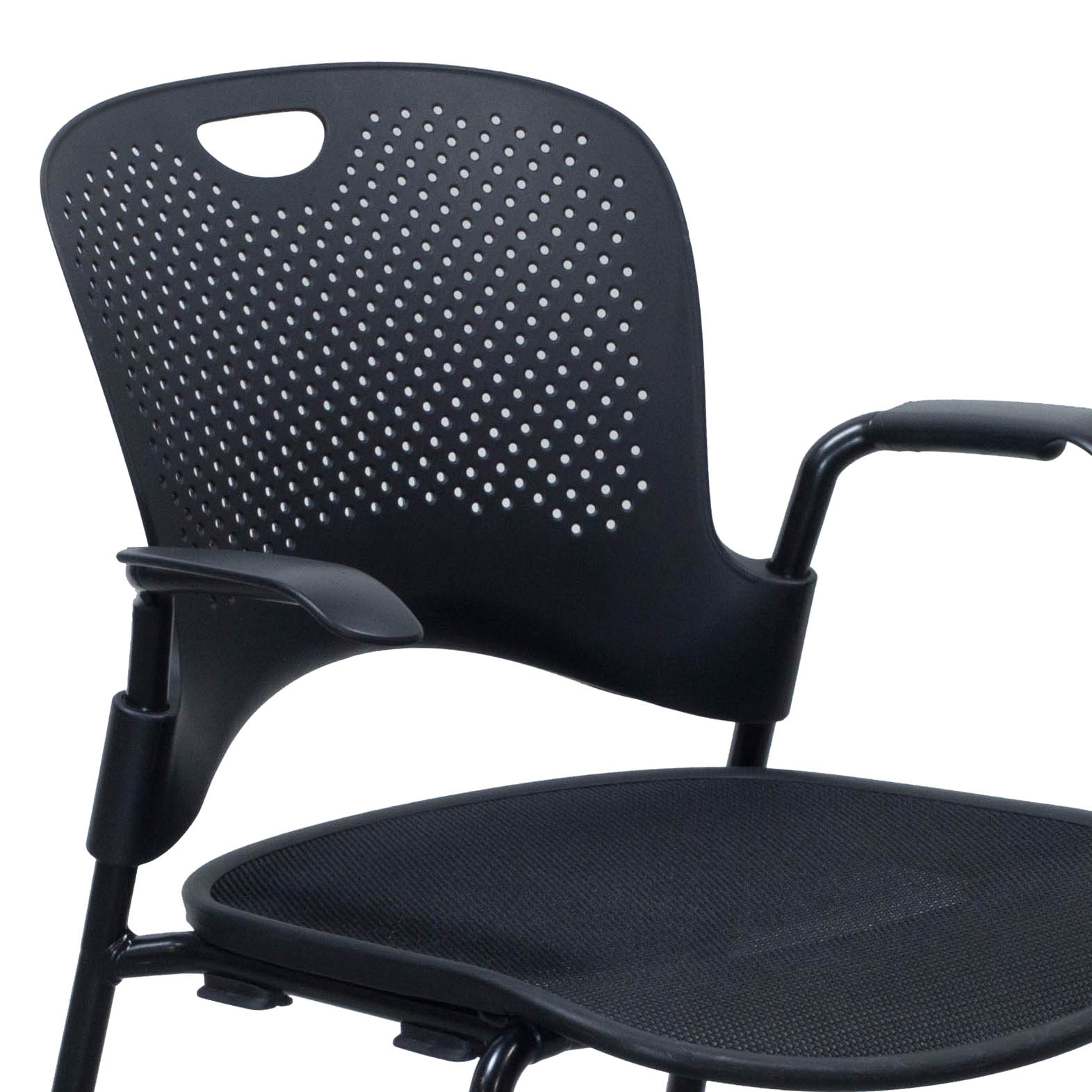 herman miller stacking chairs toddler folding table and caper used mobile stack chair black