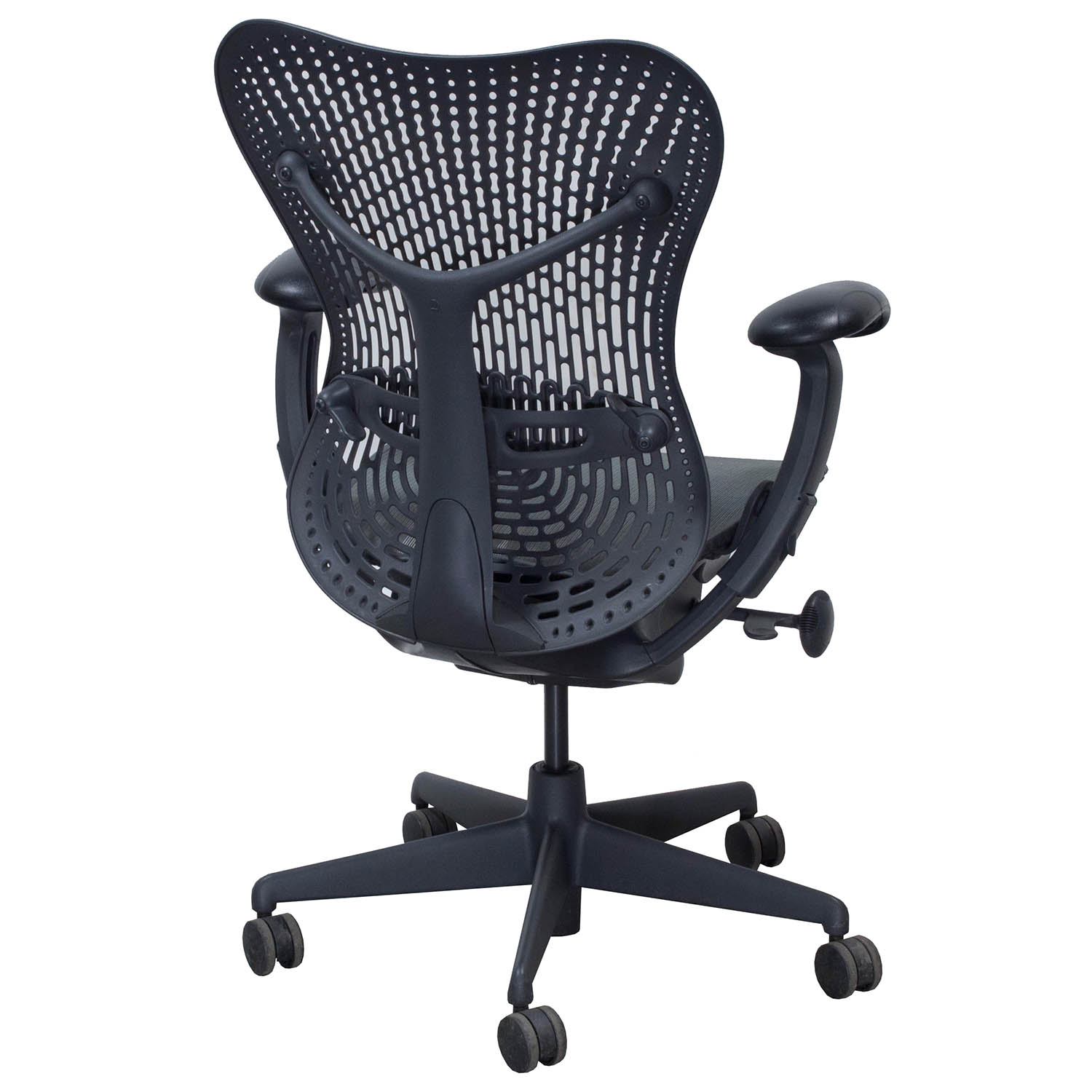 herman miller used office chairs linen chair covers dining room mirra mesh seat task graphite