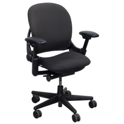 Steelcase Chair African Tribal Birthing Leap V1 Used Task Gray National Office