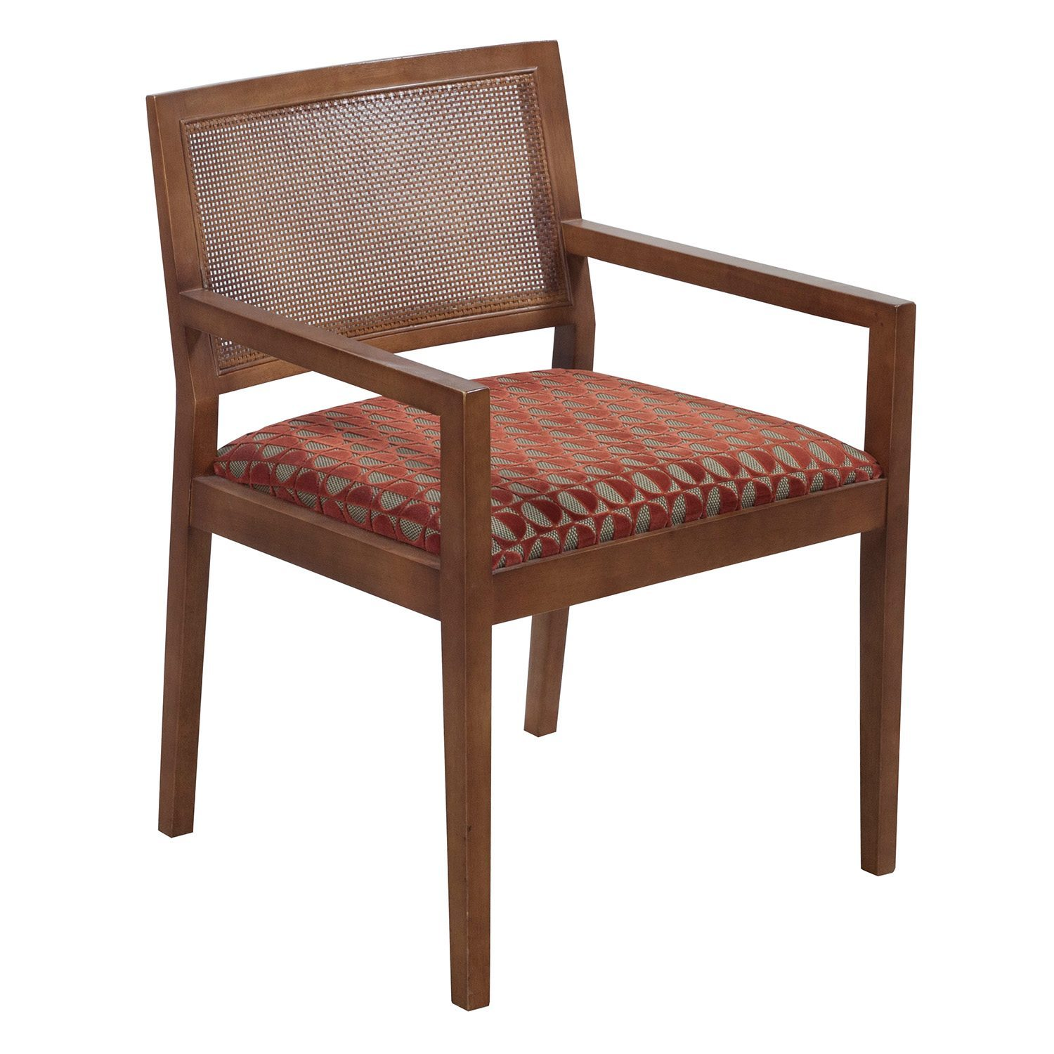 Wooden Chairs With Arms Bernhardt Clark Used Wooden Arm Chair Cherry National