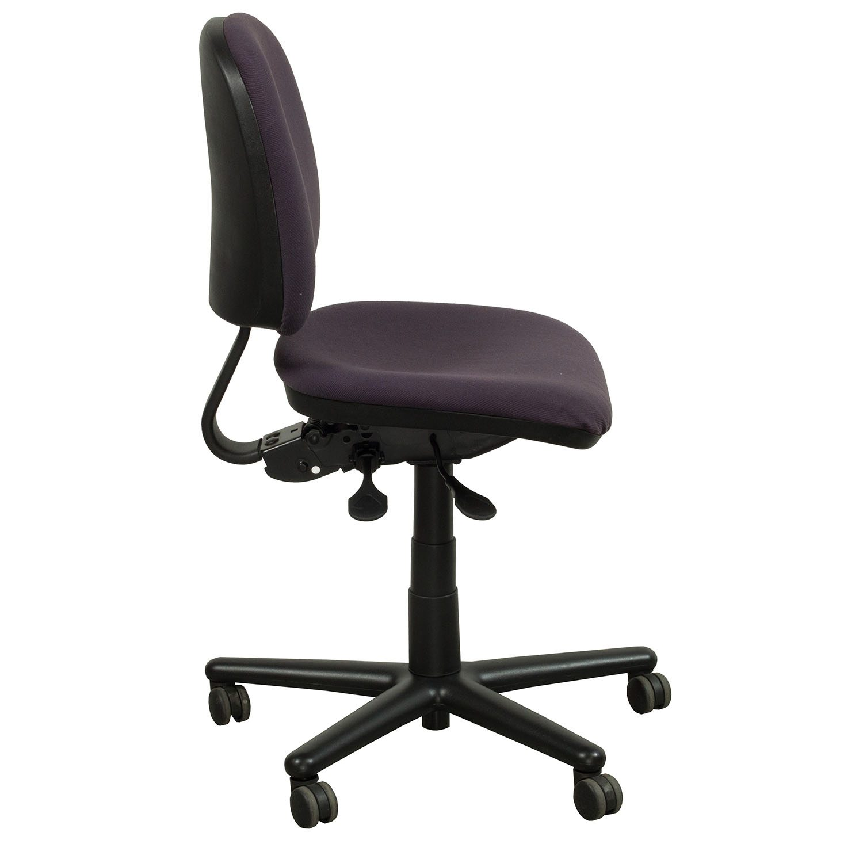 purple task chair swivel hub liner kimball used midback national office