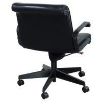 Knoll Sapper Used Leather Managerial Chair, Black ...
